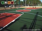 Напольное резиновое покрытие для детских и спортивных площадок