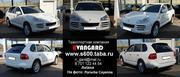 Аренда автомобиля Porsche Cayenn белого и черного цвета для любых меро