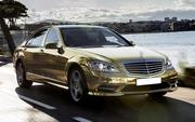 Прокат vip автомобиля Mercedes-Benz S600  W221 Long ,  белого и черного