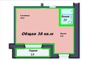 1комн,  Лесная поляна,  38кв.м,  недорого,  4 этаж
