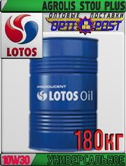 Многофункциональное масло LOTOS AGROLIS STOU PLUS 10W30 180кг