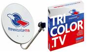 Триколор ТВ спутниковое телевидение с установкой